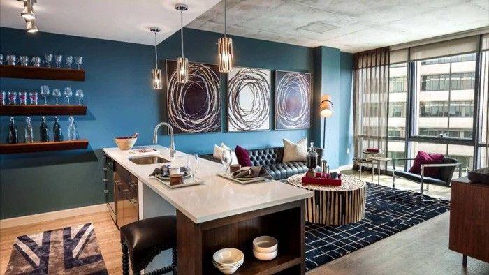 Einrichtungsbeispiele Raumgestaltung Ideen Kreative Wandgestaltung  Wohntrends2017 56