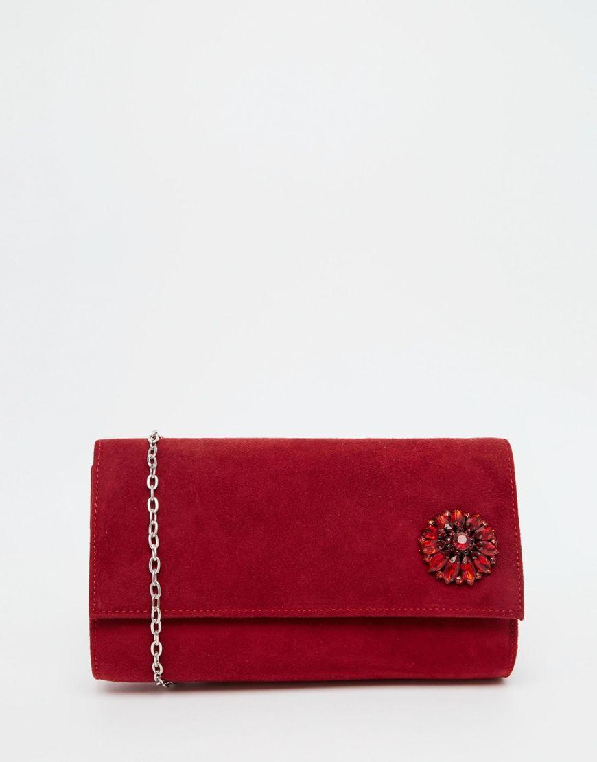 Tasche von Lotus Kunstleder außen mit Schmucksteinen verziert abnehmbarer Träger mit Umschlag Druckknopfverschluss Mit weichem Tuch abwischen 100% Polyurethan H: 12 cm/5 Zoll B: 21 cm/8 Zoll T: 5 cm/2 Zoll