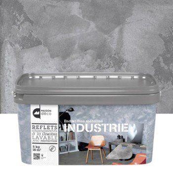 enduit d coratif industrie maison deco gris alliage 5 kg leroy merlin pertuis id. Black Bedroom Furniture Sets. Home Design Ideas
