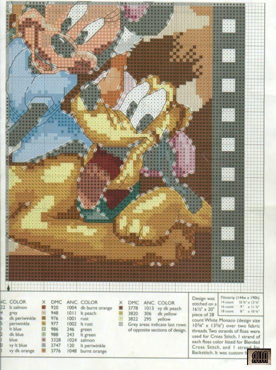 Mickey and Friends Film Strip (4 of 4)   Disney Cross Stitch   Pinterest