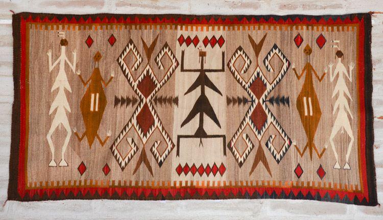 Dragon Fly Yei Pictorial Teec Nos Pos Area Navajo Weaving Water