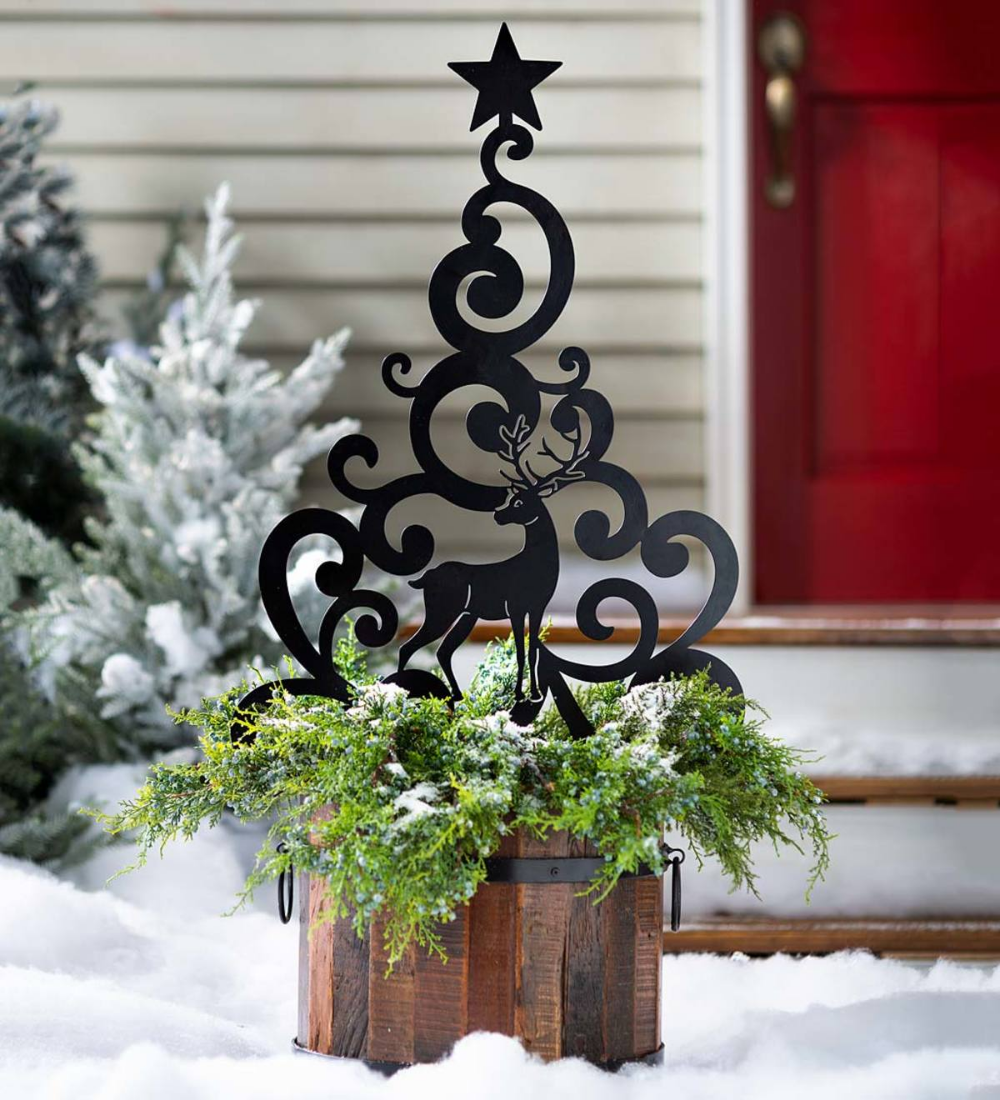 Add Holiday Cheer To Your Yard With Our Reindeer Christmas Tree Garden Stake It Adds Easy E With Images Holiday Decor Christmas Simple Christmas Decor Christmas Reindeer