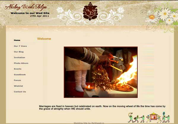 See The Most Beautiful Designs And Templates For Your Indian Wedding Website