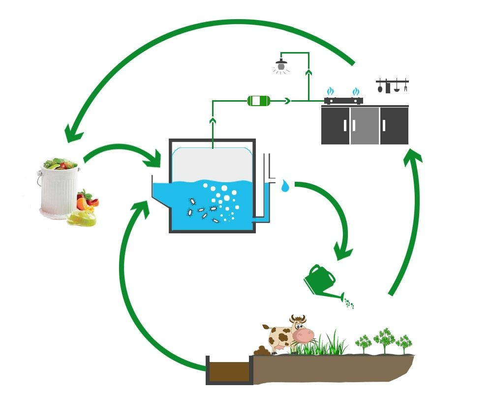 Domestic Biogas Plant Shenzhen Puxin Technology Co Ltd 2018 Diagram