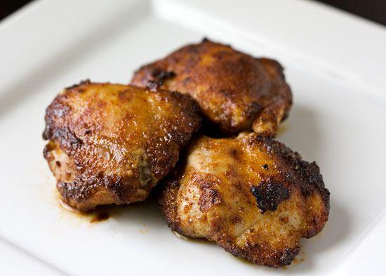 Spicy Honey Chicken Thighs