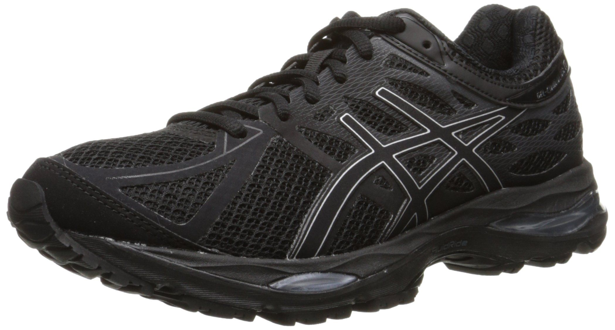 ASICS Womens Gelcumulus 17 Running Shoe Black/Silver/Onyx 6 ...