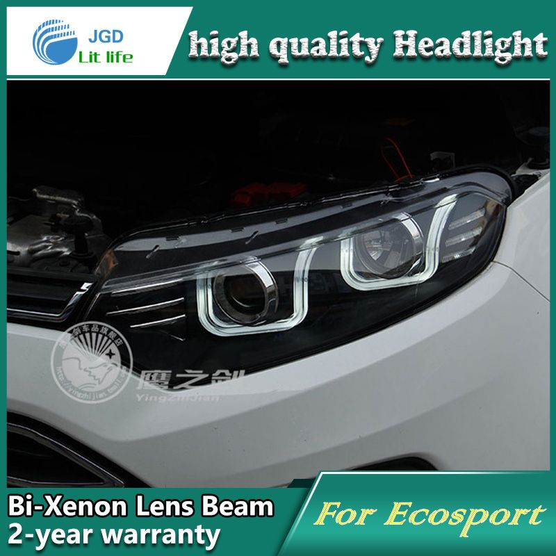 Car Styling Head Lamp Case For Ford Ecosport 2013 Headlights Led