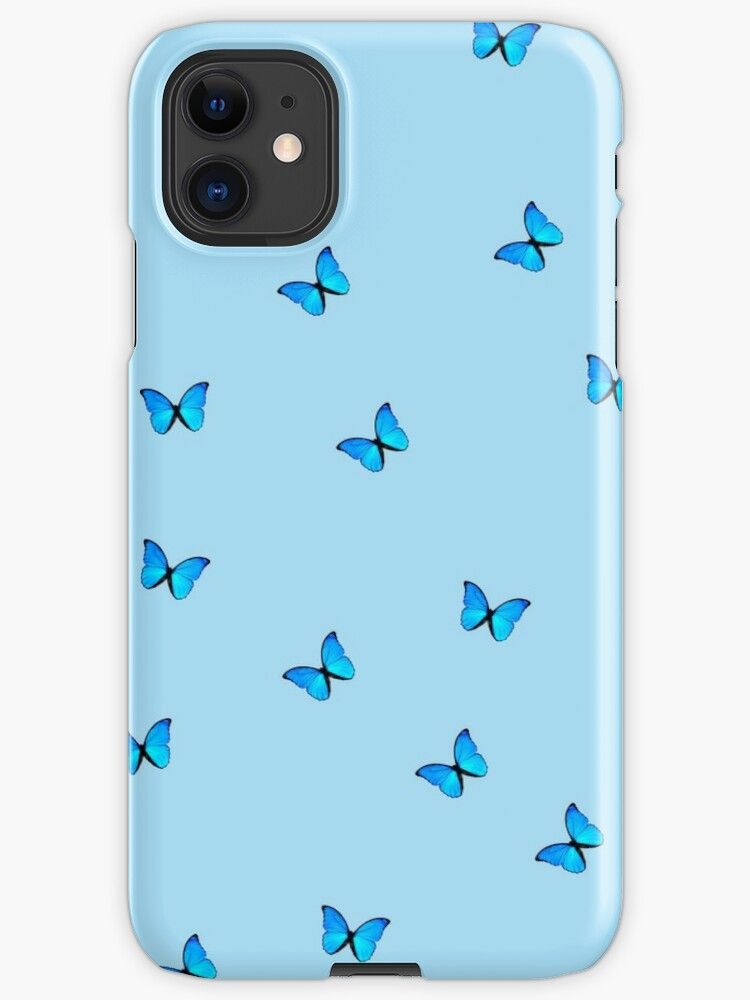 Blue Butterfly Iphone Case Cover By Lessiops Redbubble Iphone Case Covers Unique Iphone Cases Tumblr Phone Case