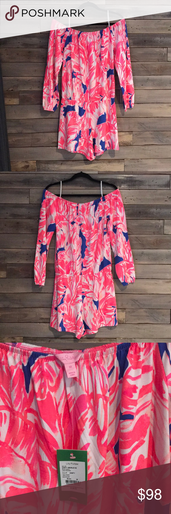 34cbaef878b0 Lilly Pulitzer Lana Romper NWT Brand new with tags still on. Strapless. Lana  Romper on pattern Tiki Pink Beach Bliss. Nonsmoking home. Lilly Pulitzer  Pants ...