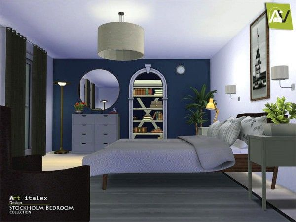 The Sims Resource: Stockholm Bedroom by Artvitalex • Sims 4 ...