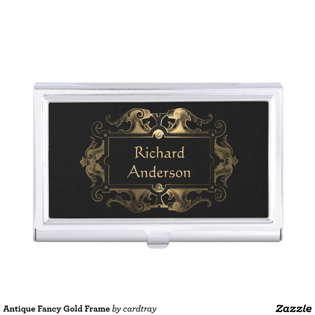Antique Fancy Gold Frame Business Card Holder: Though this business ...