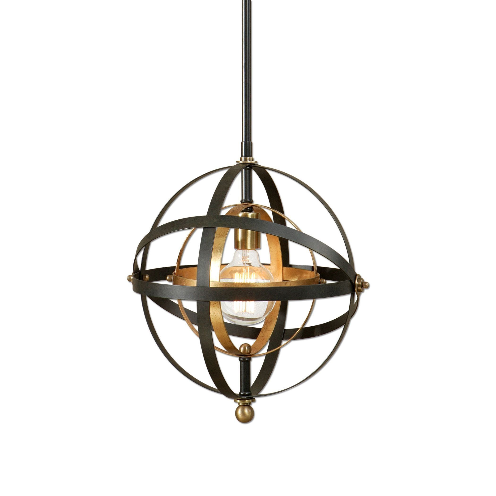 1 Light Sphere Pendant Lighting Fixture by Uttermost