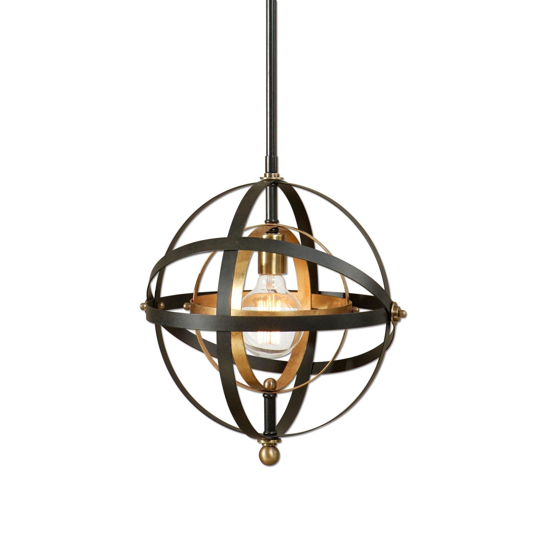 Jl Home Design Utah: Rondure 1-Light Sphere Pendant Lighting Fixture By