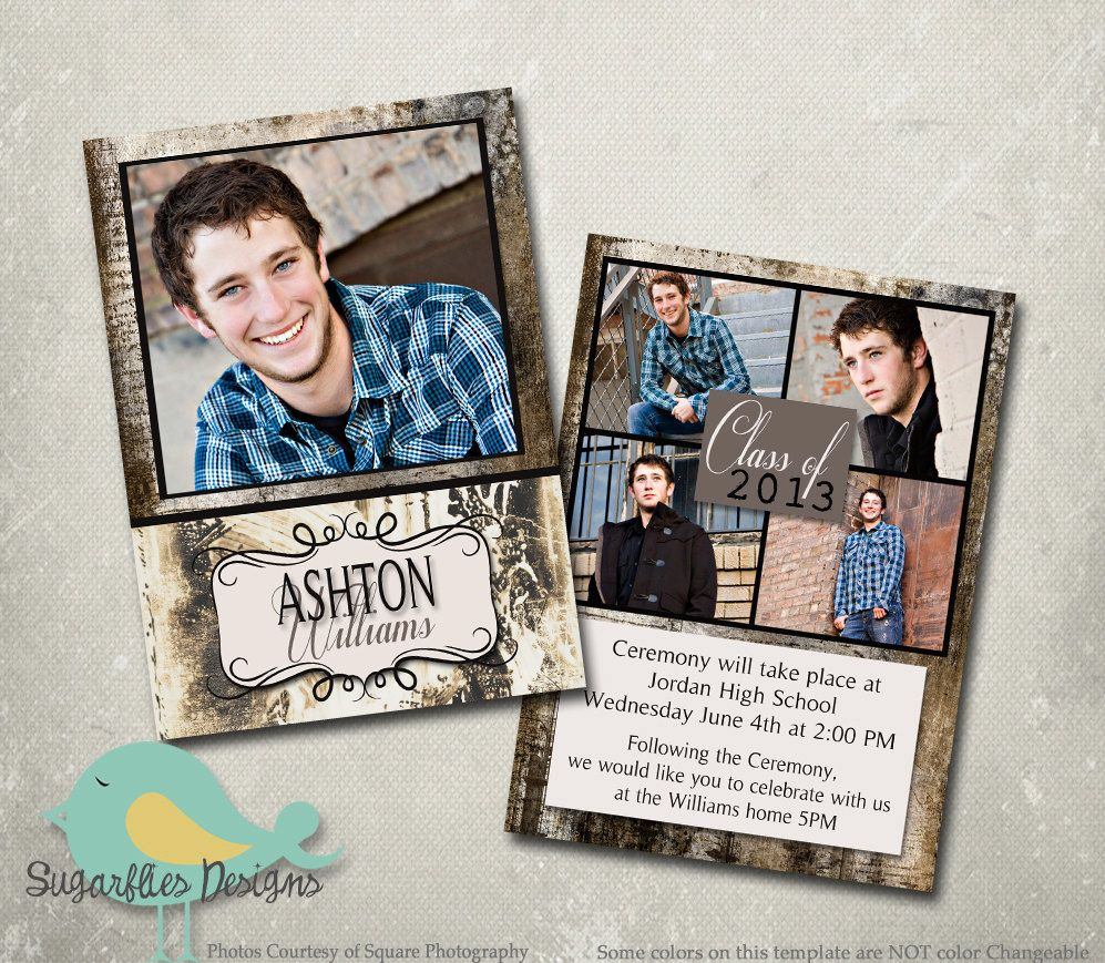 Graduation Announcements Templates Free Download  Google Search