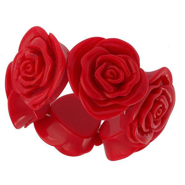 Red Jumbo Rose Bracelet