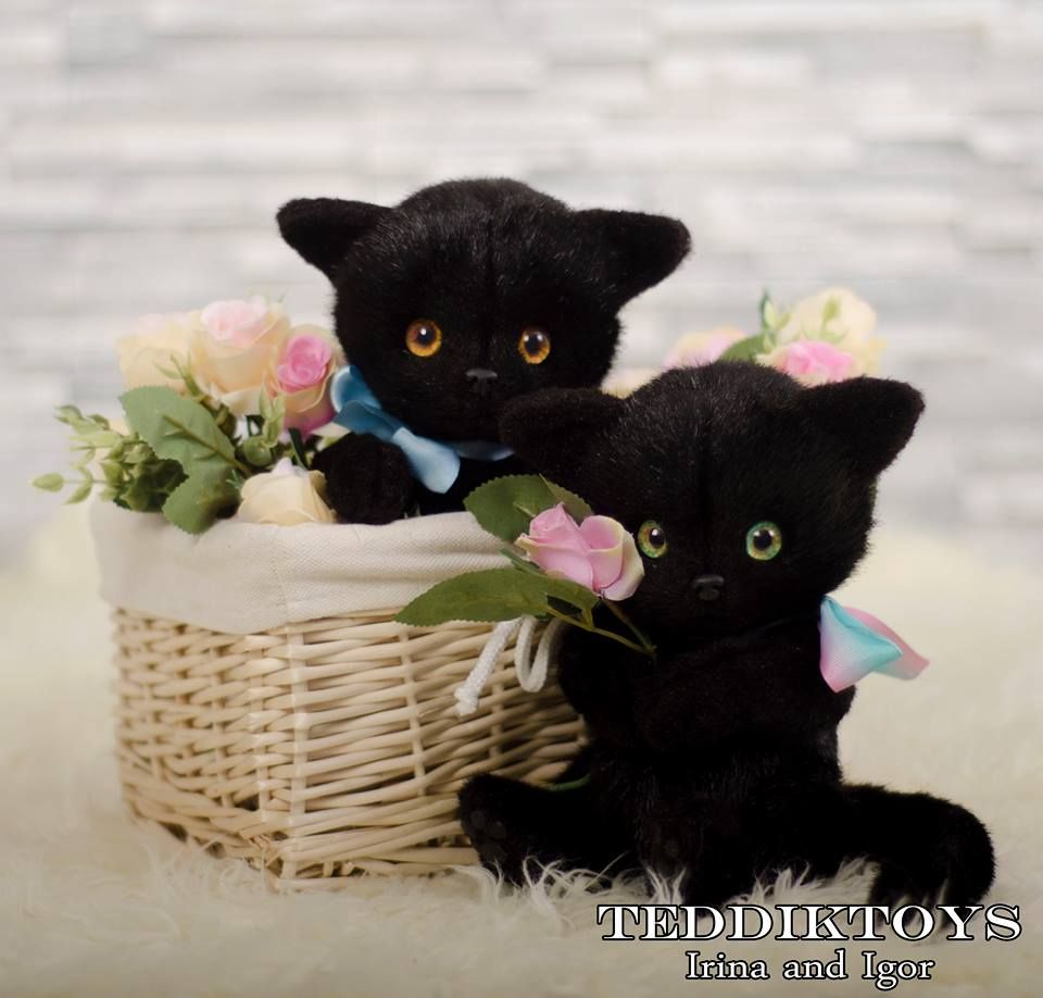 Black Kittens Made To Order Handmade Toy Etsy Black Kitten Kitten Toys Handmade Toys