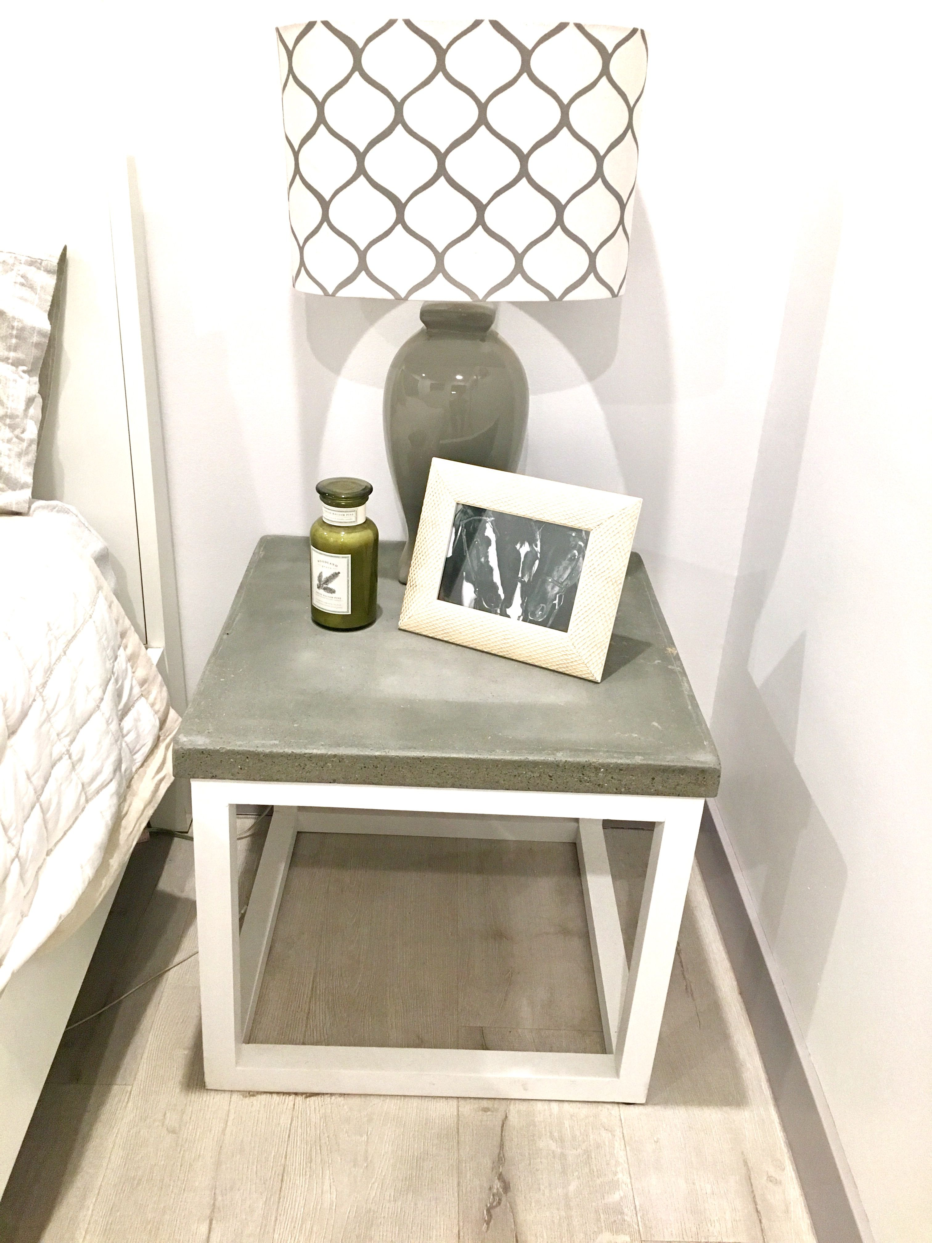 Nightstands After Diy Concrete Countertop Mix 1x1wood Finished On