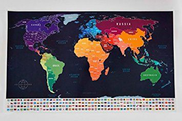 Amazon large scratch off world map poster with us states 208 amazon large scratch off world map poster with us states 208 flags gumiabroncs Choice Image