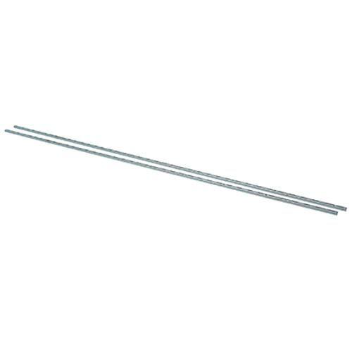 Duraline F Rail.Duraline F Rail Enkel Chroom 150cm Products Plank Muur
