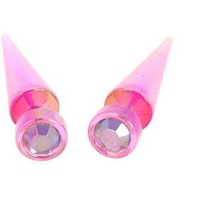 Pink Gem Faux Taper 2 Pack | Hot Topic