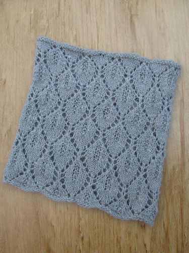 Estonian influenced leaf lace is knit in the round for ...