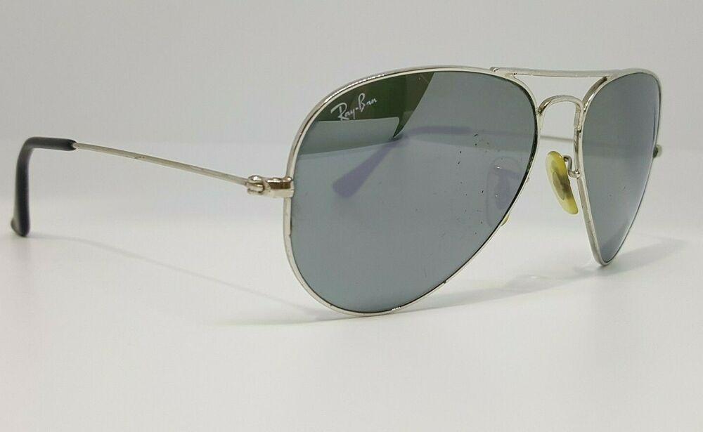 e192fbc53e RAY-BAN Sunglasses Aviator Mirror Silver Glass Lenses RB3025 55mm  fashion   clothing