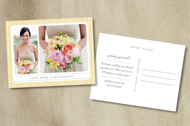 Postcard Template for Photographers (digital Photoshop files ...
