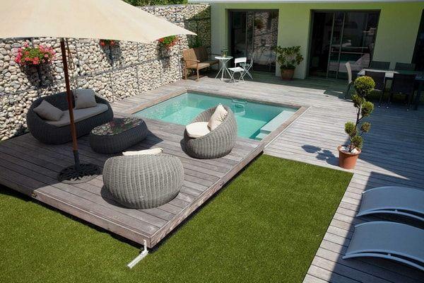 Piscinas en patios pequeños Fotos de piscinas pequeñas Patios