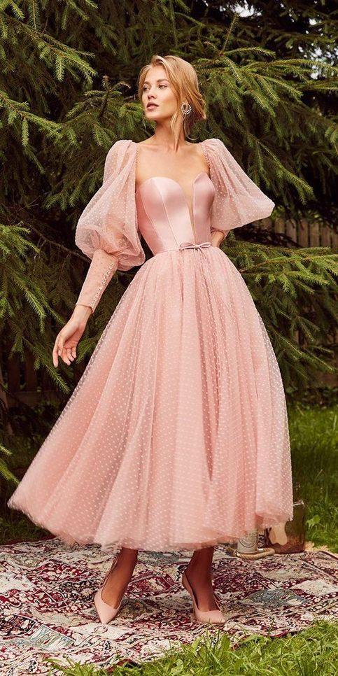 Princess A-Line Sweetheart Backless Pink Tulle Ank