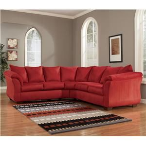 $749.95 Darcy - Salsa Contemporary Sectional Sofa with ...