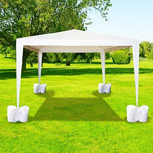 amazoncom 4 pcs outdoor canopy tent weight sand bag anchor kit patio - Outdoor Canopies