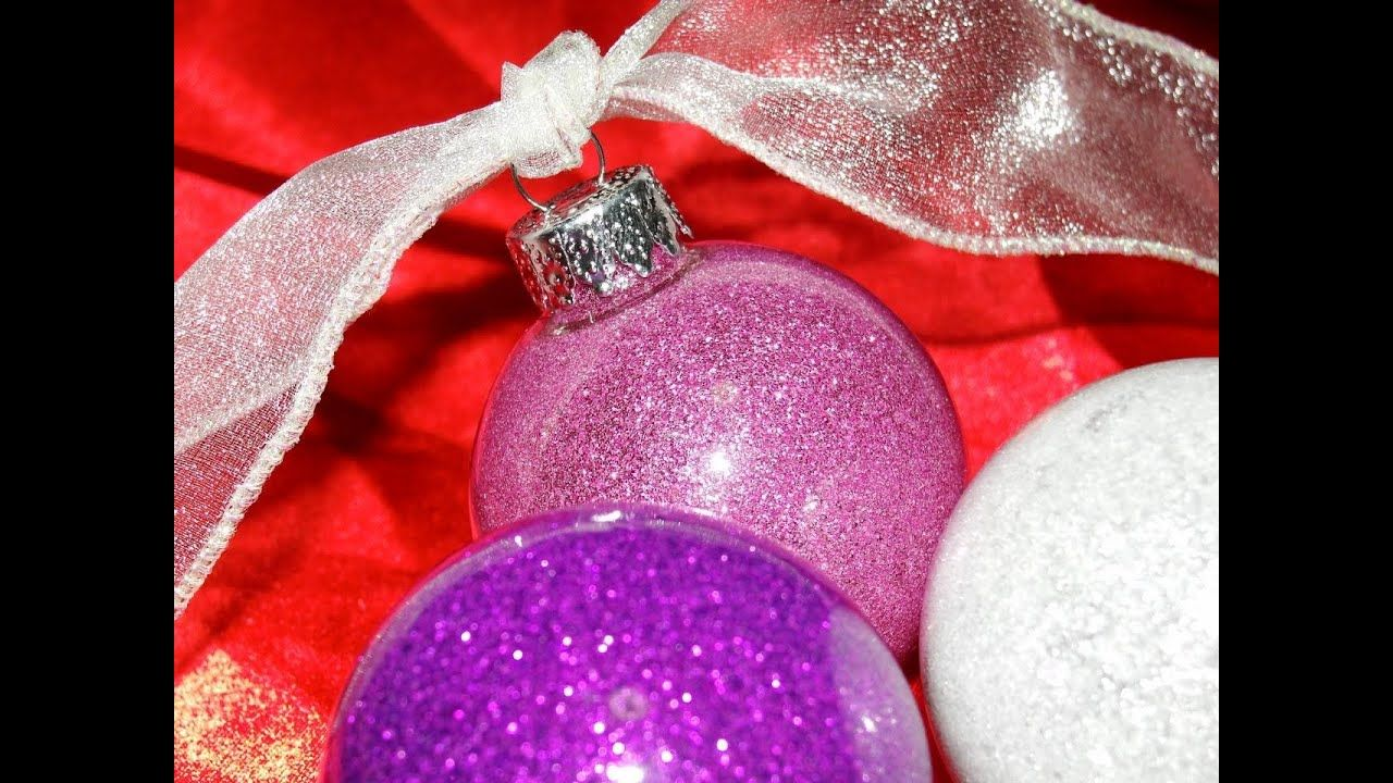 Glitter Floor Wax Ornaments Youtube Glitter Ornaments Diy How To Make Ornaments Floor Wax