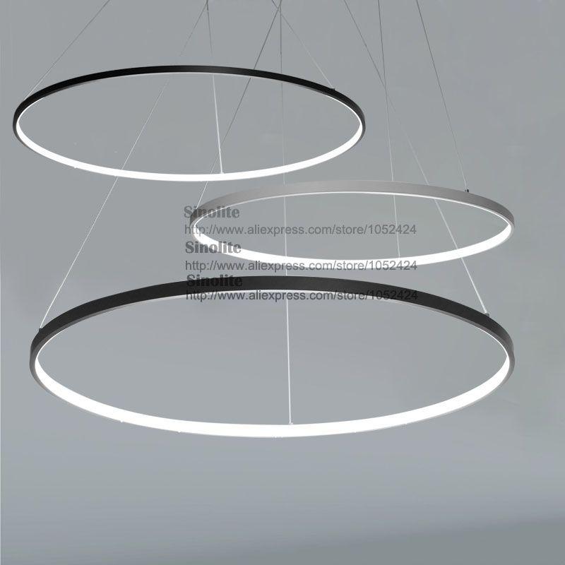 Led Circles Black Or Whtie Finish Nice Pendants Modern Pendant Light Circular Pendant Light Circular Lighting