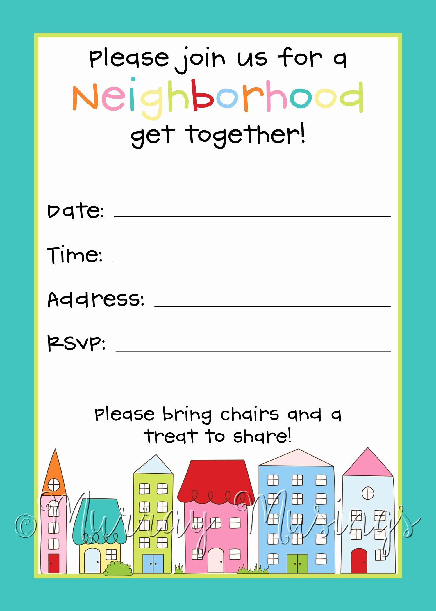 35 Block Party Invitation Template Free in 2020 (With