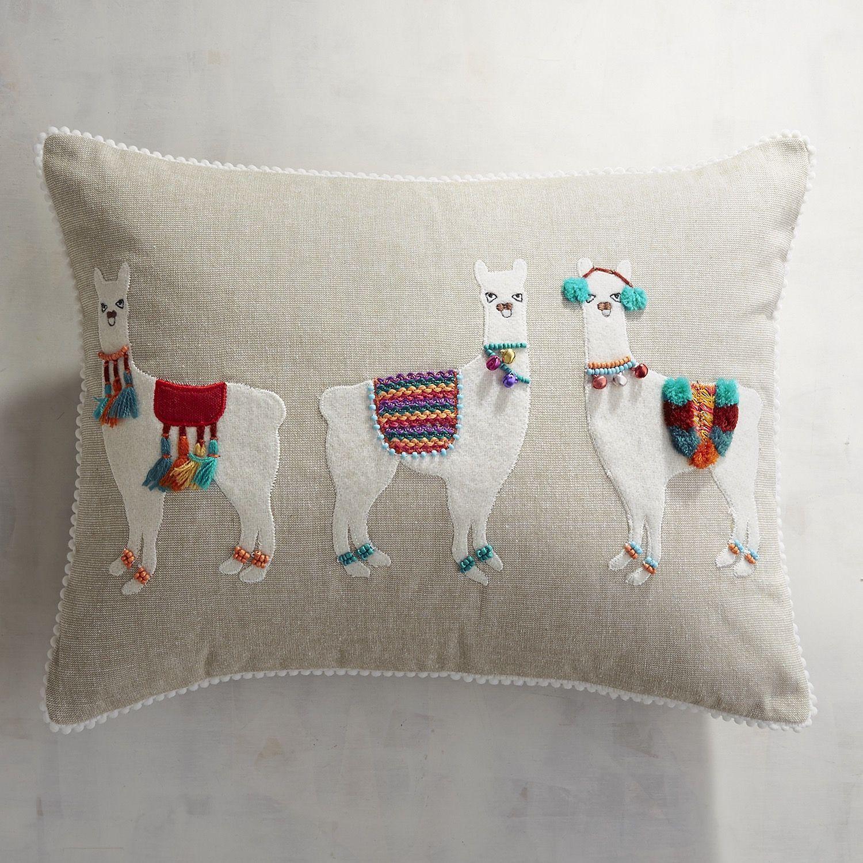 Llama Party Lumbar Pillow Natural Products Llama Decor