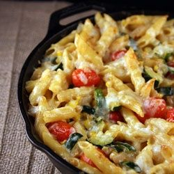 Fresh Vegetable Pasta Skillet - it's one pan wonderful!