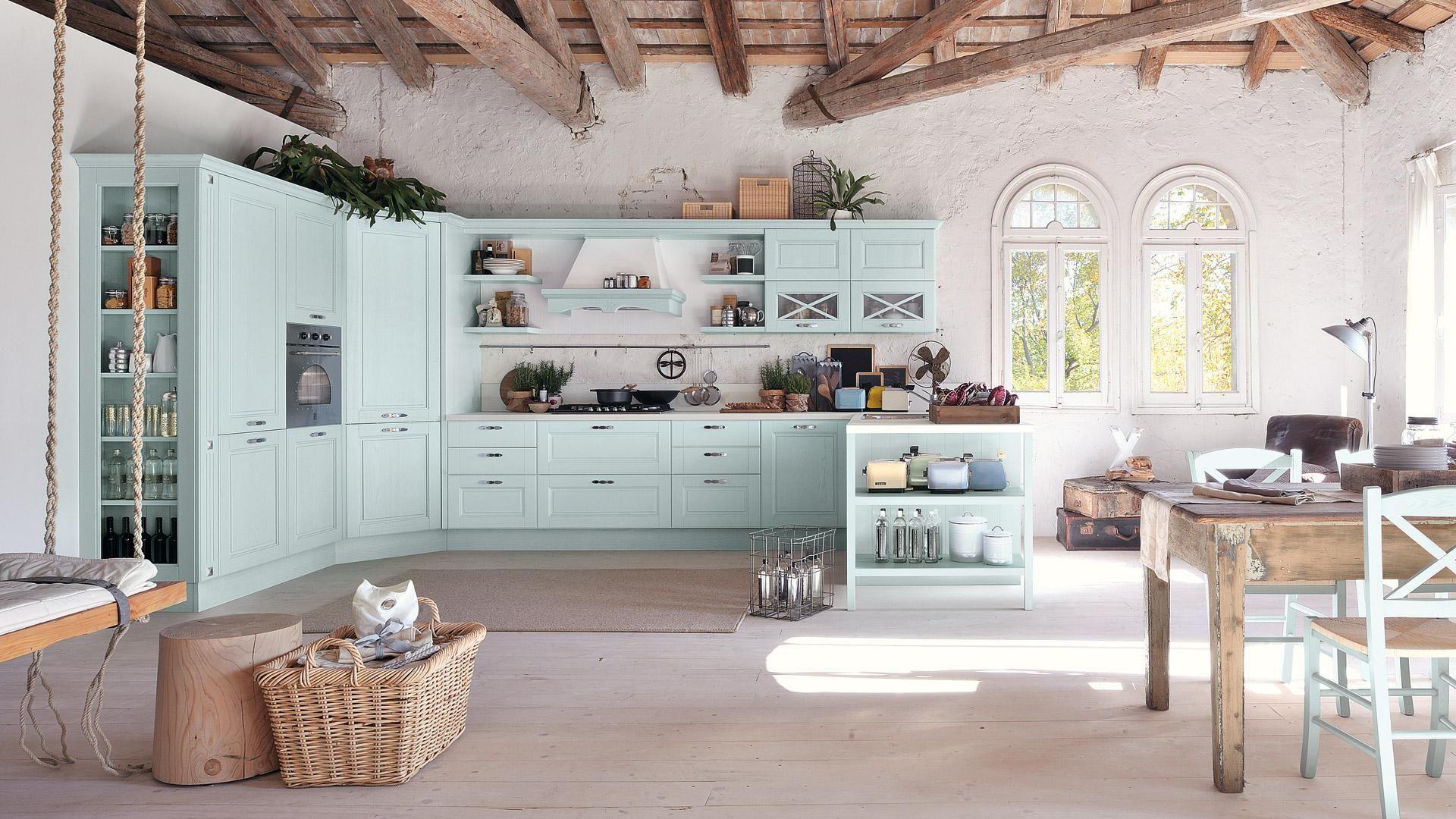 Cucina In Stile Provenzale Gli Elementi Indispensabili Per Un Arredo Romantico Cucine In Stile Country Arredamento Soggiorno Rustico Moderno