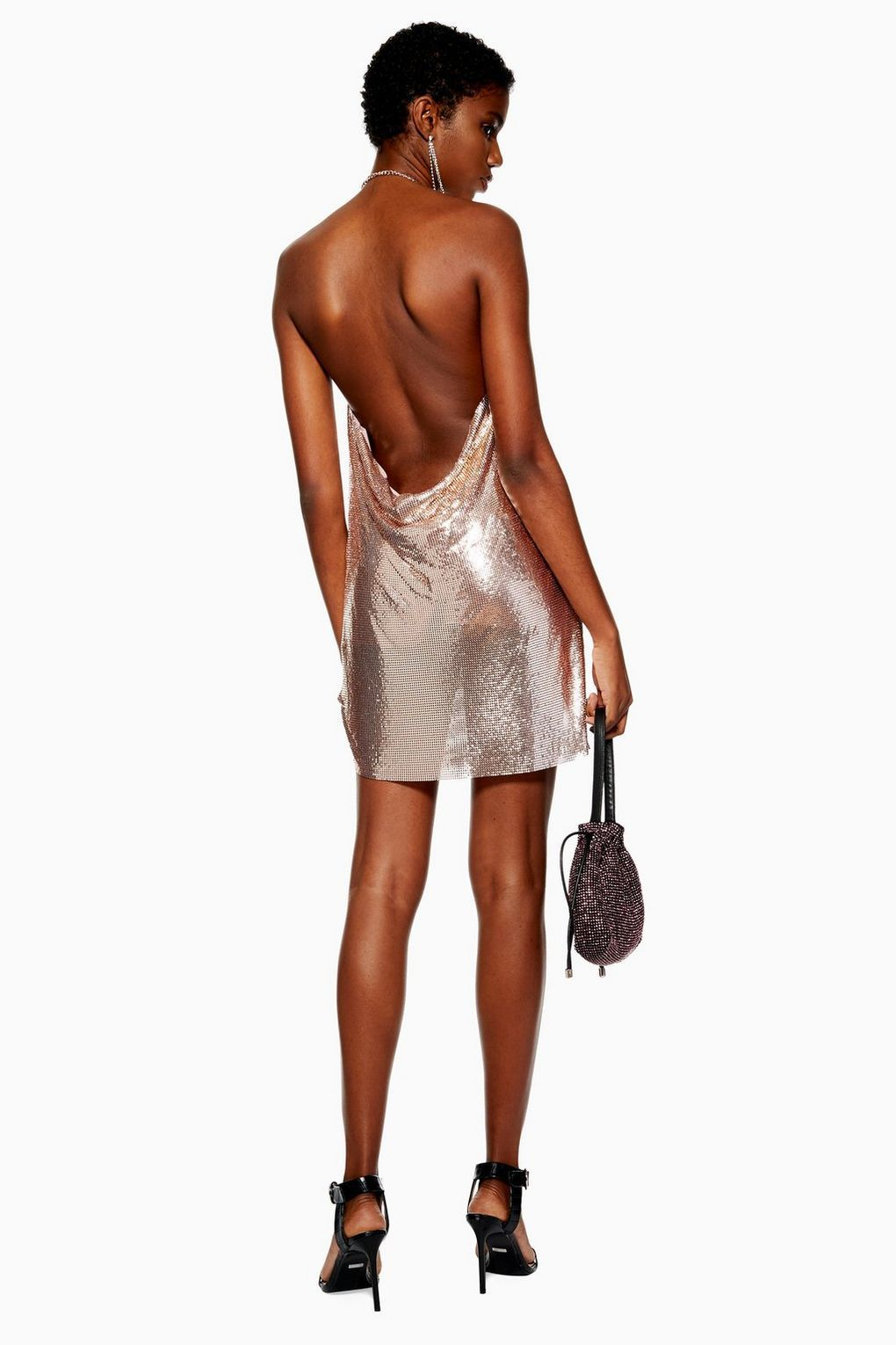 Rose Gold Chainmail Shift Dress Topshop Usa Top Shop Dress Fashion Clothes For Women