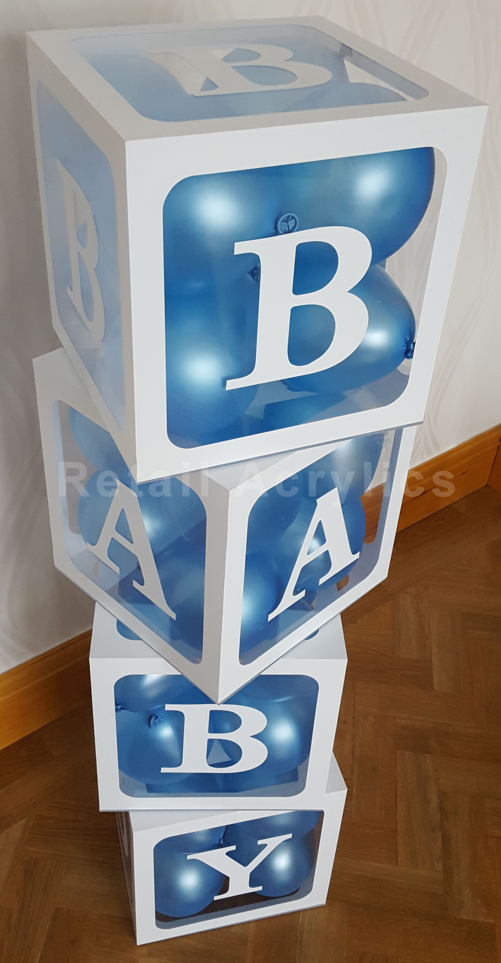 Baby Blocks Acrylic Boxes Baby Shower Party Ides Photo