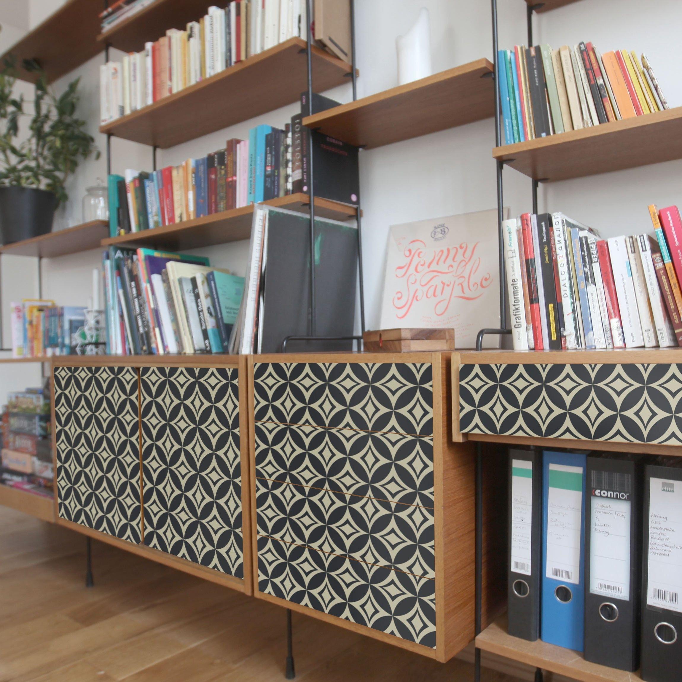 Carta adesiva per mobili concise art deco pattern nel for Pellicola adesiva per mobili ikea