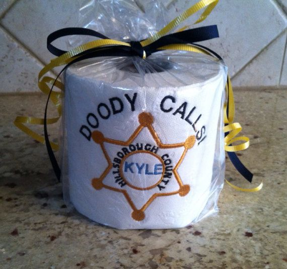 Gag Gifts For Christmas Party: Custom Embroidered Toilet Paper Gag Gift For By