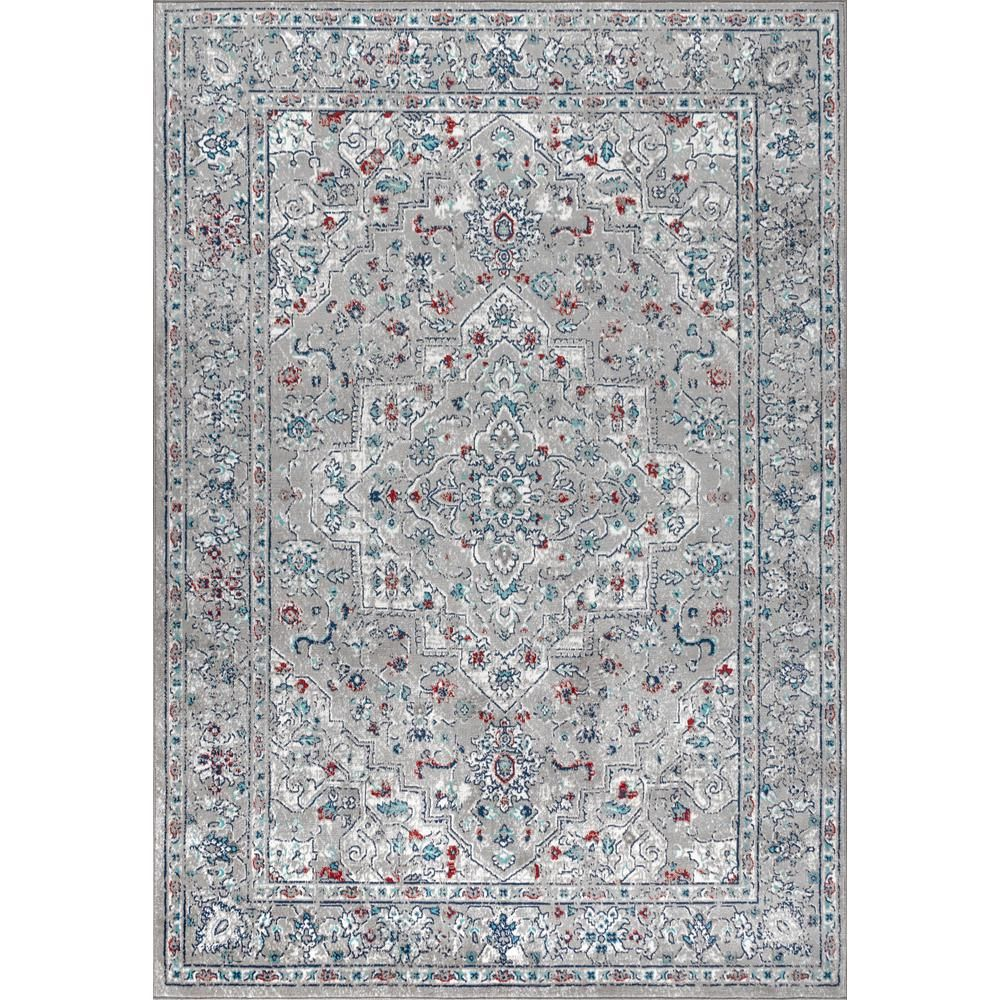 Jonathan Y Modern Persian Vintage Medallion Light Grey Multi 3 Ft X 5 Ft Area Rug Mdp102a 3 The Home Depot Vintage Medallion Medallion Rug Area Rugs