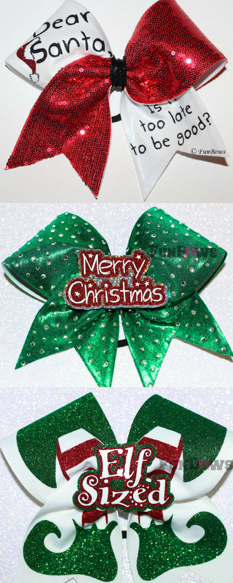 Cutest Christmas cheerleading bows. Secret Santa cheer gifts. Cheer ...