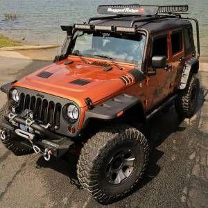 11640 10 Rugged Ridge Hurricane Flat Fender Flares Jeep Wrangler