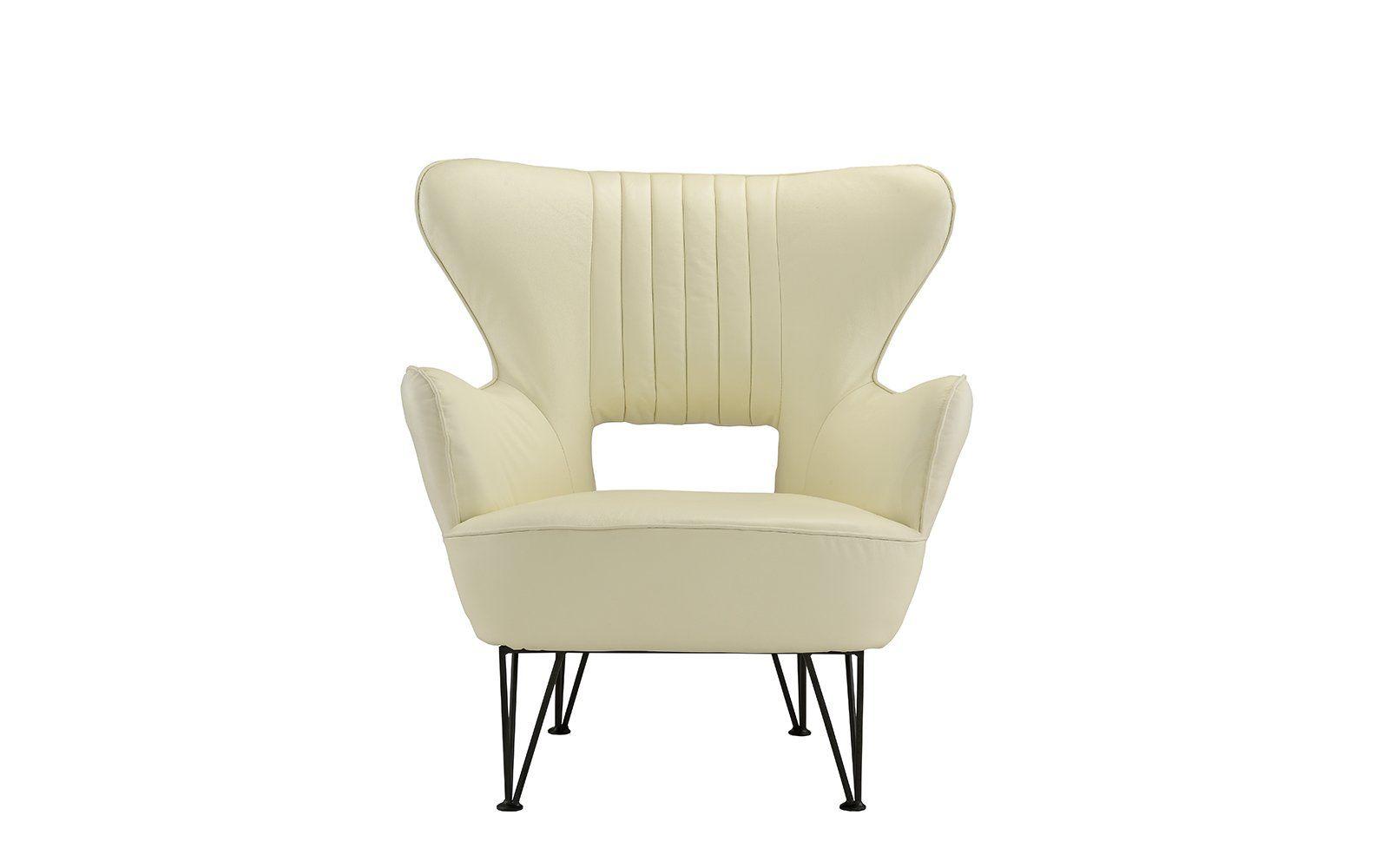 Jayden Modern Leather Shelter Armchair Armchair Living Room