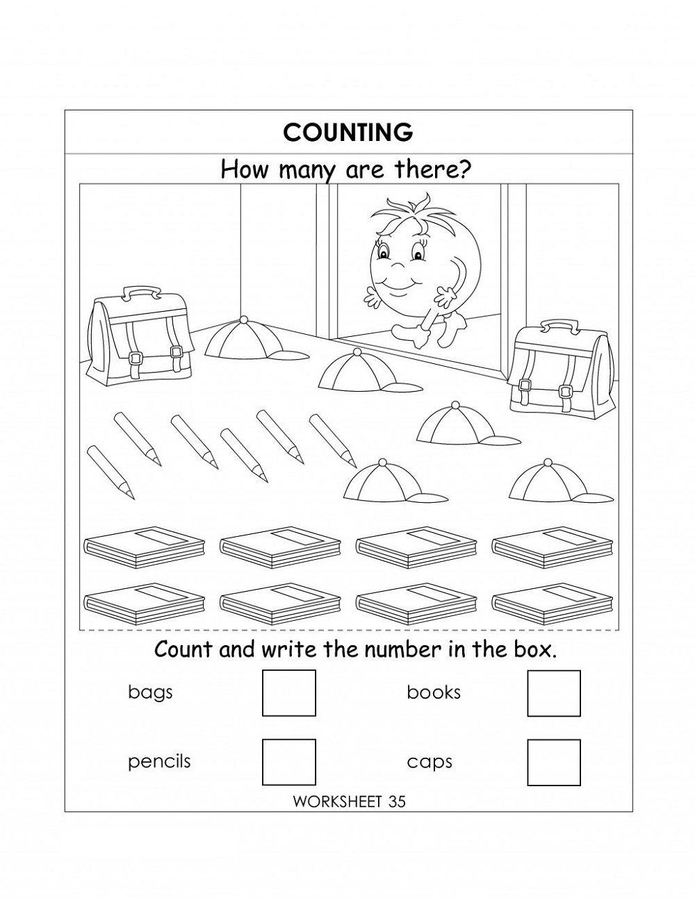 Ukg Worksheets Number worksheets kindergarten, Numbers