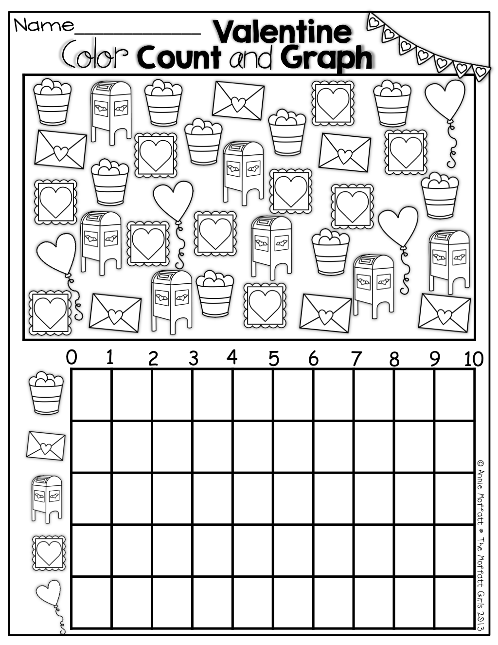 Valentine Color, Count and Graph! | Education | Pinterest ...