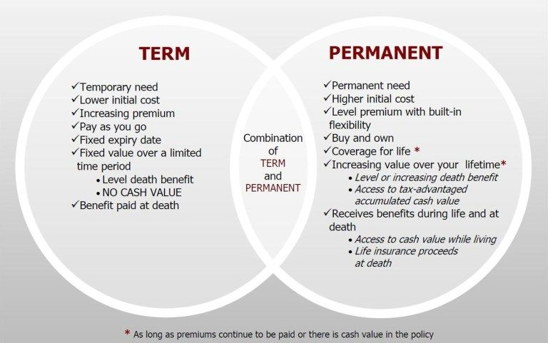 Two Types Of Life Insurance Term Vs Permanent Life Insurance