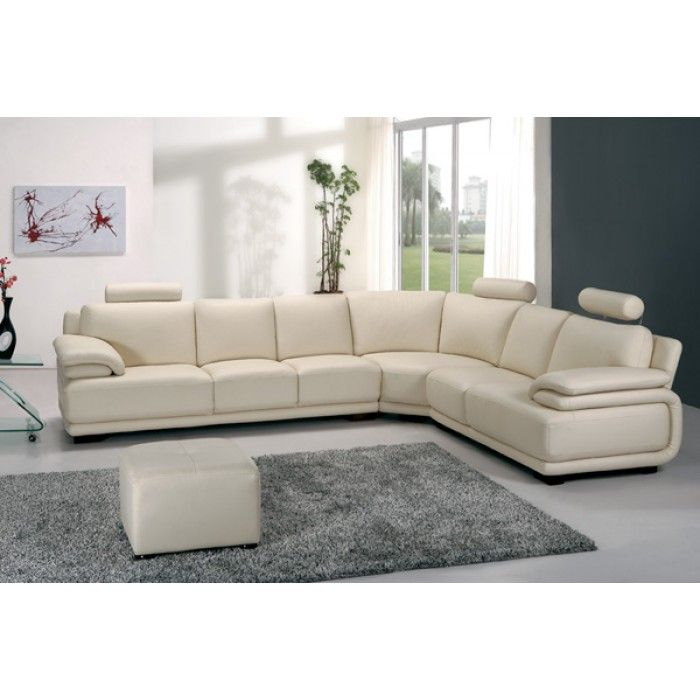 A31 Modern Cream Leather Sectional Sofa Corner Sofa Design Leather Corner Sofa Modern Leather Sectional Sofas