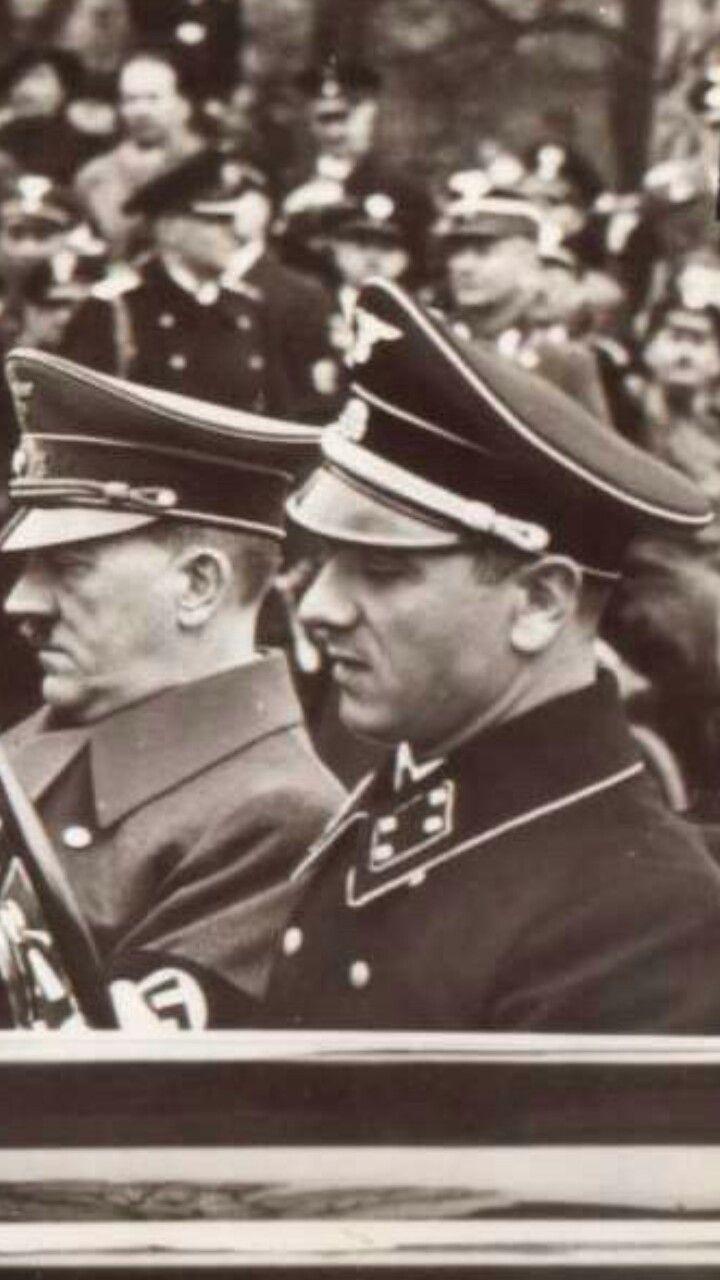 Erich Kempka and Adolf Hitler
